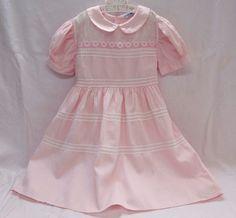 Lou Ane Englund Vintage Girls Dress w/Pink Rick Rack