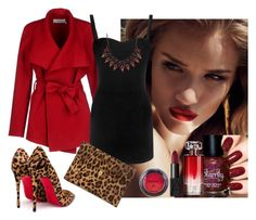 """""""Night Date"""" by edytamurselovic ❤ liked on Polyvore featuring Christian Louboutin, BGN, Alexander McQueen, Elizabeth Cole, NARS Cosmetics, NYX and Lancôme"""