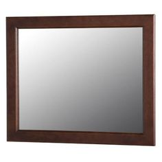 Home Decorators Collection Dowsby 25.6 in. L x 31.4 in. W Wall Mirror in Cognac
