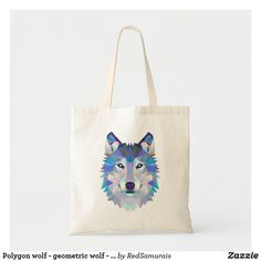 Polygon wolf - geometric wolf - abstract wolf Tote Bag