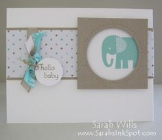 baby-elephant-card - so cute! By Sarah Wills