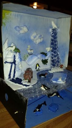 Diorama of the Tundra! So proud of her!!!