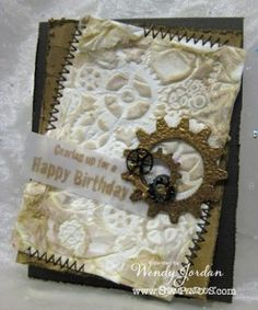 Join us as we collaborate with Dreamweaver Stencils on a week long blog hop. This Wow from Wendy Jordan is just the beginning!