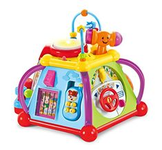 Music and More Lights 15 Game Baby Activity Cube Play Center Toy with Sounds