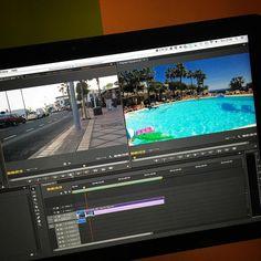 Holiday Video Editing #imac #premierepro #holiday #lanzarote #videoedit