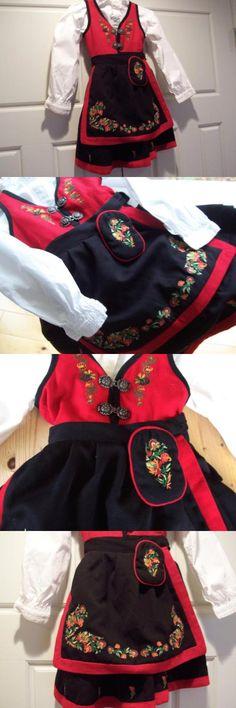 Other Cultural Clothing 155254: 1Yr+ Eu 80 Splendid Red Classy Norwegian Bunad Festdrakt From Norway -> BUY IT NOW ONLY: $198 on eBay! Norway, Classy, Culture, Clothing, Jackets, Stuff To Buy, Shopping, Fashion, Self