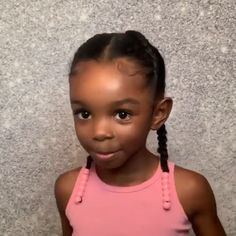Cute hairstyle for girls ✨ Afro Hairstyles For Kids, Black Baby Girl Hairstyles, Twist Braid Hairstyles, Natural Hairstyles For Kids, Natural Hair Styles For Black Women, Easy Hairstyles, Braids For Kids, Cornrows Braids For Black Women, Little Girl Braids