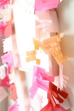 tissue-paper streamers.