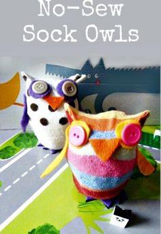 Easy No-Sew Sock Owls