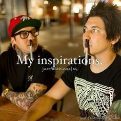 Hey mom meet my inspirations there the ones with the sharpies up there noses