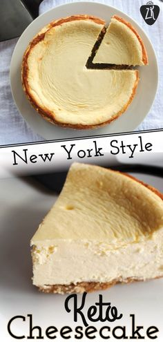 This 6 New York Style keto cheesecake is exactly like the real thing. So rich, thick, and creamy and delicious! Recettes de cuisine Gâteaux et desserts Cuisine et boissons Cookies et biscuits Cooking recipes Dessert recipes Keto Desserts, Keto Friendly Desserts, Keto Snacks, Dessert Recipes, Dinner Recipes, Easter Keto Recipes, Brunch Recipes, Breakfast Recipes, Low Carb Cheesecake