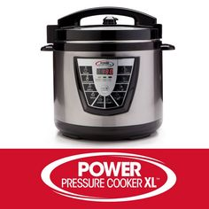 The original Power Pressure Cooker XL prepares all of your favorite slow-cooked meals in a fraction of the time! Power Pressure Cooker XL allows the at-home . Pressure Cooker Ribs, Stainless Steel Pressure Cooker, Power Pressure Cooker, Pressure Cooking, Rice Cooker, Slow Cooker, Cheesy Spaghetti, Fast And Slow, Slow Cooked Meals