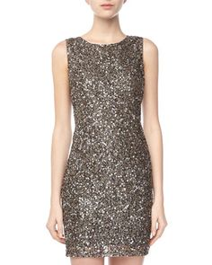 Sequin V-Back Dress, Black by Romeo & Juliet Couture at Neiman Marcus Last Call.