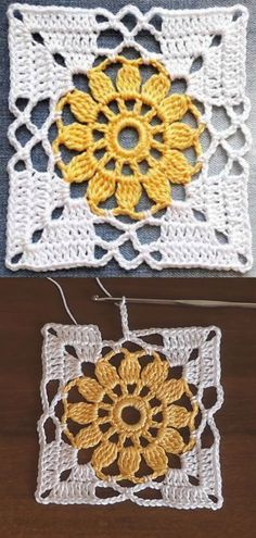 Crochet Easy Flower Square Motif Crochet flower granny square motif is one of those beautiful and easy patterns each and every crocheter would love to make. These colorful squares. Crochet Motif Patterns, Crochet Blocks, Crochet Designs, Knitting Patterns, Easy Patterns, Blanket Crochet, Crochet Vests, Crochet Shirt, Shawl Patterns