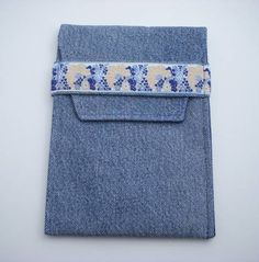 $18 This is a great case for your e Reader/e Book!  I've taken my recycled denim in yet another direction.  Why is this case different, and frankly better, for your e Reader/e Book?  It is lined with...@ artfire