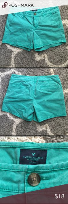 AE Midi Shorts Super cute AE shorts in a beautiful color for summer - only worn twice - midi length - button and zipper closure - size 4 American Eagle Outfitters Shorts