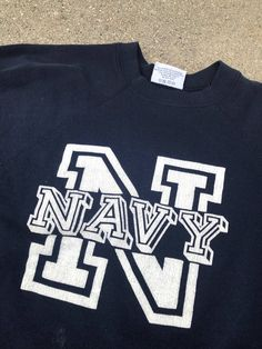 9cd762e7b66e The Vintage 50 50 Blue US Navy Crewneck Sweatshirt
