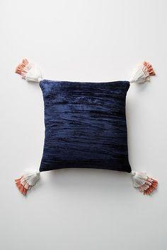 Slide View: 1: Tasseled Velvet Pillow