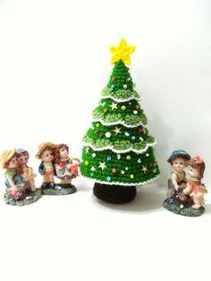 Pattern  Amigurumi Christmas Tree Pattern Crocheted by AllSoCute, $2.50