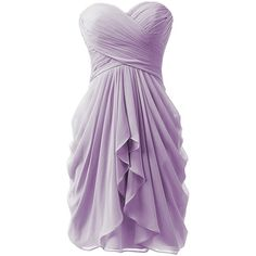 KISSBRIDAL Women's A-line Chiffon Bridesmaid Dress Homecoming Dance... ($33) ❤ liked on Polyvore featuring dresses and gowns