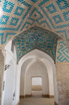 Mosque (Yazd, Iran) - gorgeous details in the brickwork