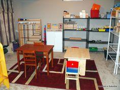 Montessori home school room