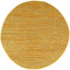Matador Leather Chindi Gold Area Rug | Wayfair 8' round 225