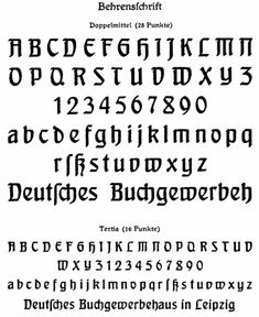 Peter Behrens - Klingspor Behrensschrift, 1901