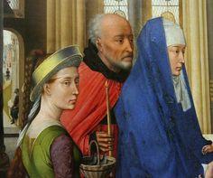 Van der Weyden, St Columba Altarpiece, right wing, detail 3
