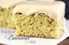 The best Banana Cake! A moist and delicious banana cake with a creamy caramel cream cheese frosting! Love it? Pin it to your DESSERT board to SAVE it! Follow Spend With Pennies on Pinterest for more great recipes! This was a delicious way to use up those 4 bananas sitting on my counter! My kids love this cake because it's so moist and bakes up rich and fluffy! The frosting for this cake is delicious! It's not thick and {Read More}