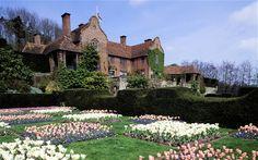 Spring bulbs at Sissinghurst Manor in England