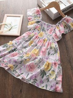 Cute Little Girl Dresses, Toddler Girl Dresses, Girls Dresses, Summer Dresses, Party Gown Dress, Dress Vestidos, Kids Frocks, Print Chiffon, Blazer