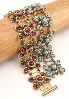 Beautiful Bracelets in Rose and Aqua
