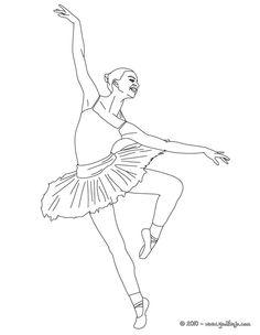 Bailarinas  Dibujos para Colorear  Coloring book sheets
