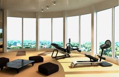 Home Gym with a Great View  #homegym www.OakvilleRealEstateOnline.com