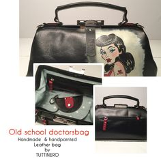 Handmade and handpainted leather doctorsbag by Tuttinero