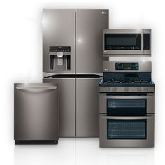 I love the LG Diamond Collection: Black Stainless Steel Appliances. Its sleek and can handle all your kitchen needs. I have a small child so the fingerprint resistance is remarkable.