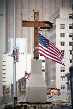 The Ground Zero cross -- two steel beams that were found standing amid the ruins of the World Trade Center -- will get a permanent home this week after a brief blessing ceremony.