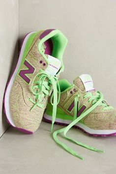 """WANT THESE!  Fun colors.  Seems like they would be a great """"neutral"""". New Balance 574 Sneakers - anthropologie.com"""