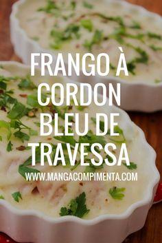 Frango à Cordon Bleu de Travessa {sem empanar} #receita #frango #cordonbleu #natal #anonovo #ceia #receitasdefinaldeano