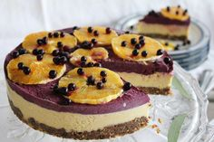 This Rawsome Vegan Life: orange & blueberry cheesecake