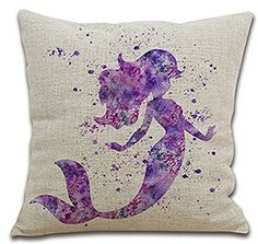 Fantastic Purple Watercolor Mermaid Cotton Linen Throw Pillow Case Cushion Cover Home Office Decorative, Square 18 X 18 Inches (For Living Room, Sofa,car) andreannie http://www.amazon.com/dp/B0152YKBVG/ref=cm_sw_r_pi_dp_PbPuwb171KRQ8