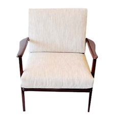 New arrivals...Vintage modern: Open arm Walnut arm chair Qty 2  $1,800 for the pair.
