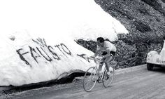 Fausto Coppi pictured at the Giro D'Italia in 1952, a decade after he set a new record in the Hour race. Photograph: Olycom SPA