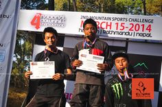 The Podium. 2013 National DH race, Nepal