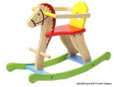 VOILA TOY sturdy wooden ROCKING HORSE childs gift **NEW #VoilaToys