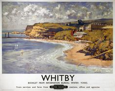 Travel poster produced for British Railways BR North Eastern Region to promote rail travel to the North Yorkshire seaside resort of Whitby The poster Travel English, British Travel, British Seaside, British Isles, British Summer, British Countryside, Posters Uk, Railway Posters, Train Posters