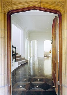 Love the parquet floor and the grandness of this space!