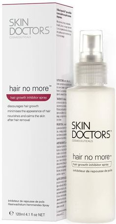 Skin Doctors Hair No More Hair Growth Inhibitor Effective Spray - 120ml ✔ Skin Doctors Hair No More Hair Growth Inhibitor Effective Spray specifically designed to discourage unwanted hair from growing back, can be used with any form of hair removal ✔ With repeated use it can help keep hair away for weeks or even months at a time ✔ Any hair that does grow back may be finer, sparser and lighter than before ✔ In some cases the hair may never grow back at all #HairRemovalMethods Unwanted Hair, Unwanted Facial, Hair No More, After Shave, Grow Hair, Facial Hair, Hair Removal, Hair Growth, Doctors