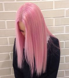 Rose pink wig with straight long hairstyle by scarlettvalentine